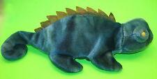 TY Beanie Baby Iggy Blue Tie-Dyed Iguana MWMT No Tongue DOB 8 12 1997