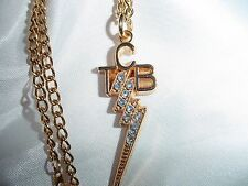 ELVIS PRESLEY  Small Rhinestone TCB Necklace