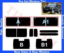 Pre Cut Window Tint Land Rover Defender 90 91-09 Rear Window&Rear SidesAny Shade