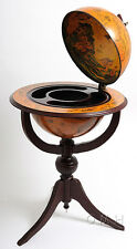 "Globe Hidden Home Hide A Bar 18"" Wood Old World Pedestal New"