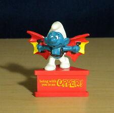 Smurfs Hang Glider Smurf 20036 Batman Wings Figure Vintage PVC Toy Figurine Peyo