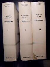 Letteratura Italiana: I Contemporanei, 3 Volumi, Marzorati 1963