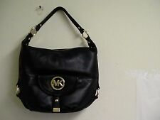 Authentic Micheal kors shoulder bag fulton black tote NS leather new