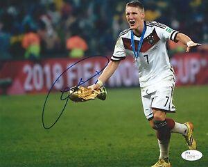 BASTIAN SCHWEINSTEIGER Signed Autographed 8x10 Photo Germany World Cup JSA COA 2