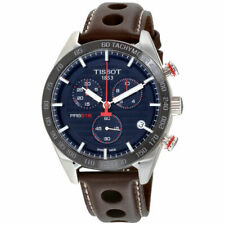 Tissot PRS 516 42mm Silver Stainless Steel Case with Brown Leather Strap Men's Wristwatch