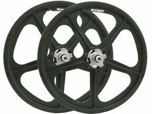 SKYWAY 20' Tuff II Rivet Wheels Black (PAIRS)