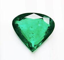 10.84 Ct  Fine Natural Emerald Heart  Zambia UnTreated Loose GemStone