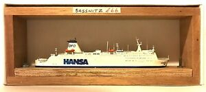 CARAT CFC-2 GERMANY FERRY SASSNITZ 1/1250 MODEL SHIP W/ WOOD SUPPORT