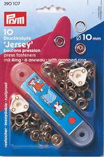 PRYM Jersey Druckknöpfe Zackenring 10mm