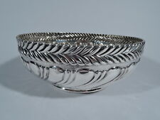 Tiffany Bowl - 8060 - Antique Aesthetic Wave Edge   American Sterling Silver