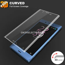 HQ Full Curved 3D 5D Tempered Glass Screen Protector + TPU Case For Sony Xperia