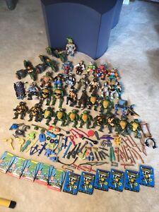 Vintage TMNT Teenage Mutant Ninja Turtles  1980s Action Figure Lot Weapons Bikes