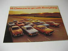 1976 Datsun Brochure.....14 Datsuns to go with Everything