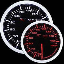 52mm Depo Celsius Racing Oil Temperature gauge White Amber Red WA5247B-Cel