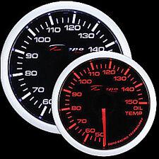 52mm Depo Racing Oil Temperature gauge White Amber Red Smoked WA5247B Fahrenheit