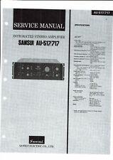 SANSUI Service Manual Pour au - 517 - 717