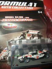 1/43 Honda RA106 Button #12 2006 + Fas 64 Formula 1 Auto Collection Raccoglitore