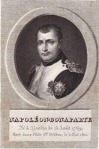 Gravure Empereur Napoléon Bonaparte Premier Empire Corse Ajaccio 1824