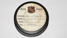 1972-73 Gary Dornhoefer Philadelphia Flyers Game Used Goal Scored Puck -Bladon A