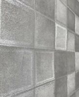 Wallpaper roll silver metallic textured modern faux caw skin animal fur tiles 3D