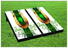 VINYL WRAPS Cornhole Boards DECAL Happy St.Patricks Day BagTossGame Stickers 496