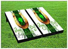 VINYL WRAPS Cornhole Boards DECAL Happy St.Patricks Day BagTossGame Stickers 496