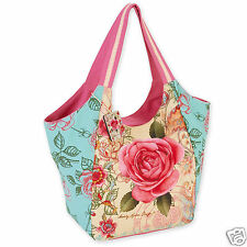 Sandy Clough Scoop Tote Bag Vacation Resort Tote Handbag Bohemian Pink Rose New