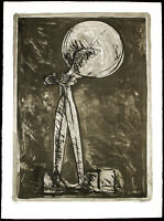 Untitled um 1968 Grosse Lithographie Rudolf HOFLEHNER (1916-1995 A) handsigniert