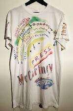 Paul McCartney 80s Neon All Over Print Vintage T-Shirt Shirt - Beatles Wings