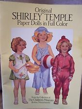 Reproduction Shirley Temple Paper Doll Book - Dover Publ. 1988