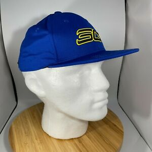 Stephen Curry Snapback Hat Under Armour Blue Gold Youth Boys One Size Flat Fit