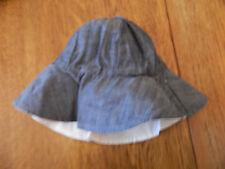 Nwt babyGap infant/toddler girls reversible off white&chambray bucket hat 6-12m