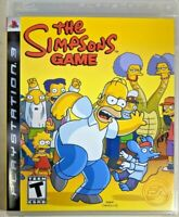The Simpsons Game (Sony PlayStation 3) PS3 FREE FAST SHIPPING with manual