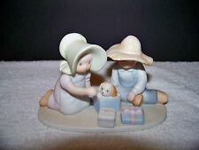 """1991 Homco Circle of Friends by Masterpiece """"The Perfect Gift"""" dog figurine"""
