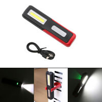 USB Rechargeable COB LED Work Light Magnetic Emergency Flashlight Torch Lamp