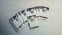 40 Lot of ILLINOIS CENTRAL GULF RAILROAD MONTHLY COMMUTER TICKET Unused