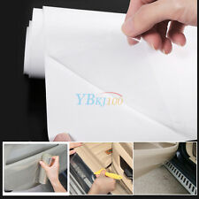 Auto Car Door Edge Clear Protective Vinyl Wrap Guard Film Sheet 20x200cm Durable