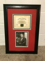 NEBRASKA FOOTBALL GAME USED MEMORIAL STADIUM TURF - TOM OSBORNE SIGNED PLAQUE