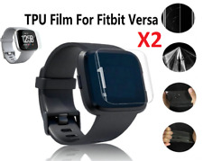 2 X Clear HD Full Face Coverage TPU Screen Protector Cover For Fitbit Versa