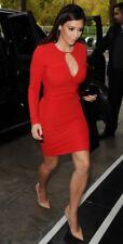 Kardashian Kollection (Kim Kardashian) Bodycon Dress. Size UK 16. Red. Midi.