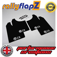 rallyflapZ ROVER MG ZR (01-05) Hatchback Mud Flaps Black 3mm PVC Logo White
