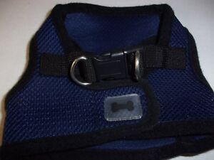 Navy Blue Blk Body Harness Vest XS Pet Dog new no choke free step-in pup xmall