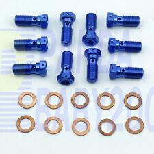 10×AN3 -3 3AN 3/8x24 UNF Banjo Bolt Brake Hose End Fitting Adapter 9.5mm M10x1.0