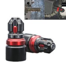 2x CNC Roller Motorrad Schraubkappen Gabel Rahmen 8mm Nuss-Abdeckung Universal