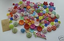 Assorted wooden & resin buttons, various sizes. 150 approx. UK SELLER.  FREE P&P