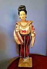 """Antique 12"""" Chinese Doll w/Original Outfit marked base purchased San Fran 1943"""