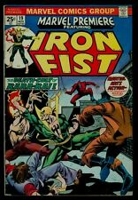 Marvel Comics Marvel Premiere #19 IRON FIST 1st Colleen Wing Hulk #181 Ad VG/FN