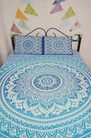 Queen Mandala Bedspread Indian Bohemian Tapestry Bed Cover With 2 Pillow Covers
