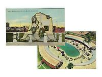 LOT of 2 CUBA Memorial & Cabana UNUSED POSTCARDS