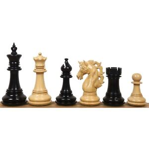 "4.6"" Spartacus Luxury Staunton Chess Pieces Only Set- Ebony Wood - Triple Weight"